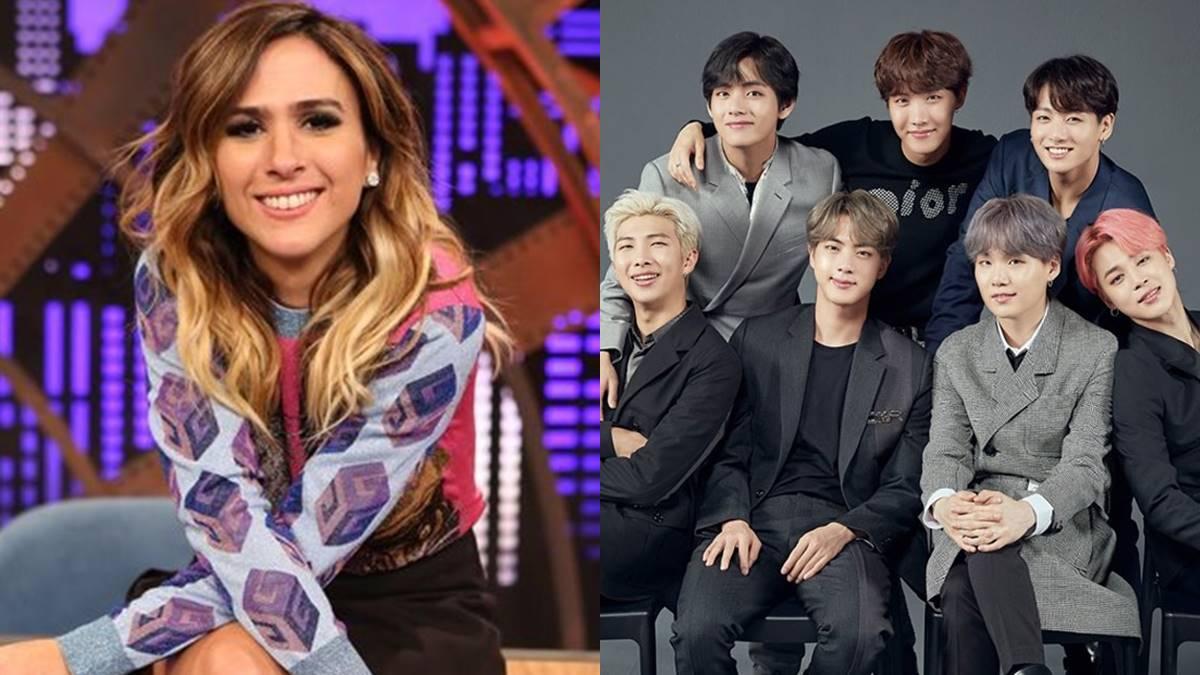 Fãs torcem por entrevista do BTS no programa de Tatá Werneck
