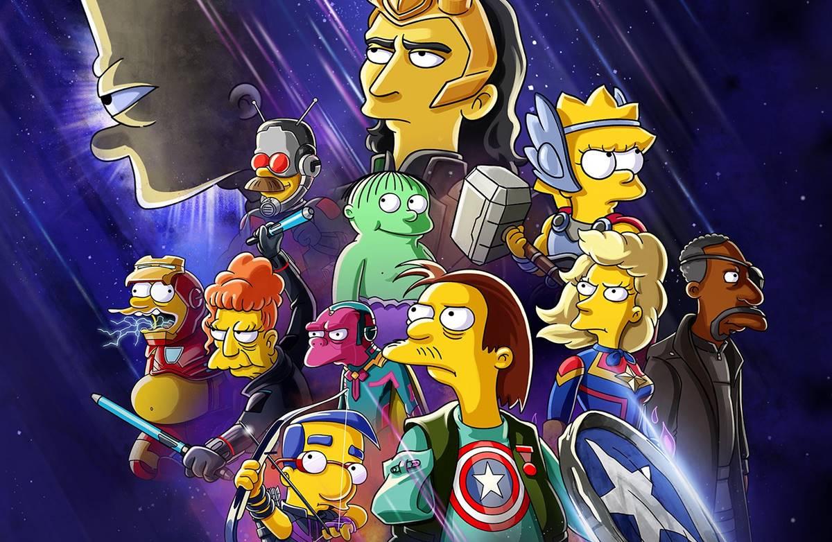 Os Simpsons e o vilão Loki em crossover para curta-metragem