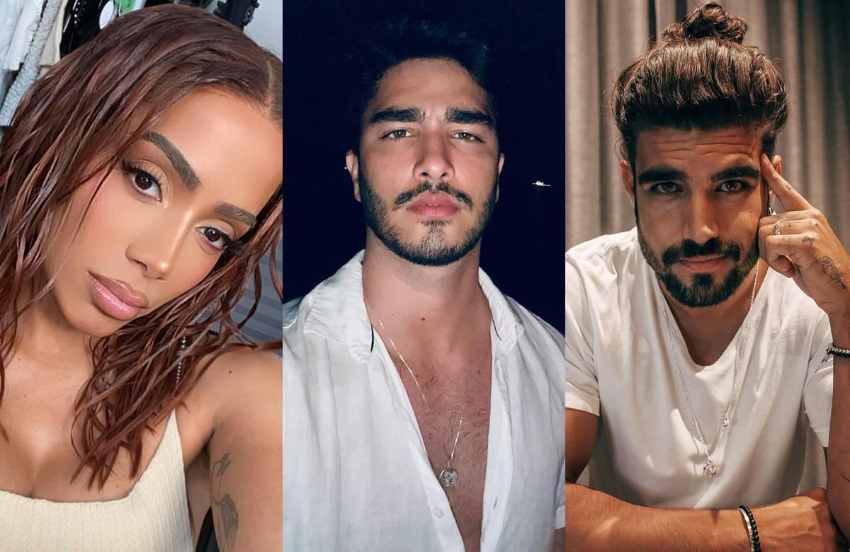 Anitta, Leo Bittencourt e Caio Castro